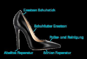 Damen Premium Schuhreparatur